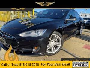 2015 Tesla Model S 70D sedan Solid Black (CALL 818-918-3058 FOR AVAILABILITY) $41999