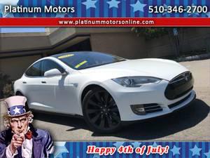 2013 Tesla Model S Preformance P85D ~ 1 CA Owner ~ White/BLK ~ Call U (San Leandro) $43997