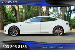 2014 *TESLA* MODEL S *P85* 1 OWNER NAVI PANO WHITE ON BLACK LEATHER (No Payments for 90 Days OAC!! Lot 99 LLC) $46995
