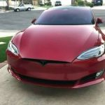 TESLA MODEL S 75D RED, AUTOPILOT, SUNROOF, CARBON KIT, CHROME DELETE (Anaheim, CA) $86000