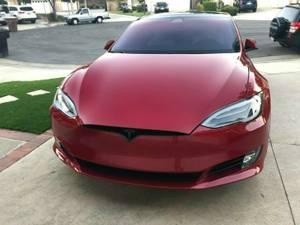 TESLA MODEL S 75D RED, AUTOPILOT, SUNROOF, CARBON KIT, CHROME DELETE (Anaheim, CA) $86000