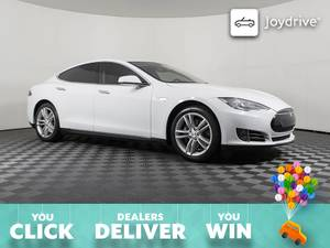 2015-Tesla-Model S-85 kWh Battery-Leather Steering Wheel (Tesla Model S 85 kWh Battery) $45999