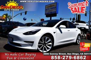 2018 Tesla Model 3 SdAutoFinders.com,Like New,Don't Miss SKU:053174 Te (San Diego Auto Finders) $42924
